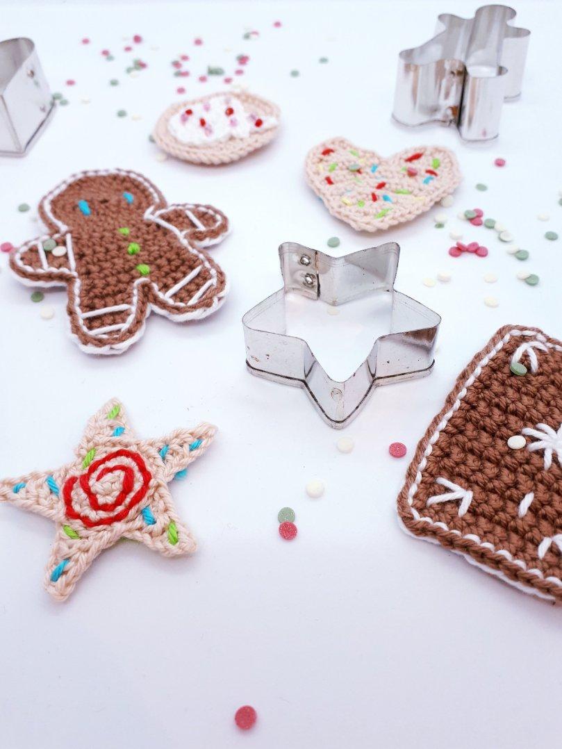 Häkelküche_Weihnachtsbäckerei_Kekse